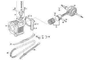 """Cilinder Kymco Agility 12"""""""