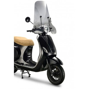"Windschermen BTC Riva, AGM VX50, Senzo Rivalux, IVA LUX, La Souris Vespelini Sourini, VOM Venice en alle China ""vespa look a like"" scooter met ronde koplamp"